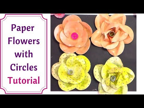 How to make Paper Flowers Only Using Circles : Full Tutorial