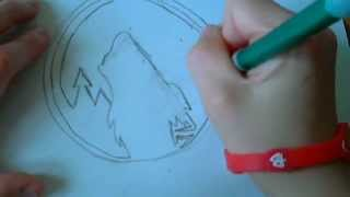 How To Draw a Timberwolves Logo