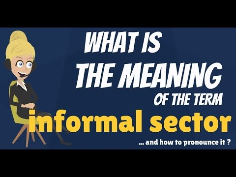 What is INFORMAL SECTOR? What does INFORMAL SECTOR mean? INFORMAL SECTOR meaning