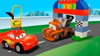 Машинки мультфильм.  Лего транспорт. Игрушки лего. Тачки 2. Скорая помощь. Полицейская машина.