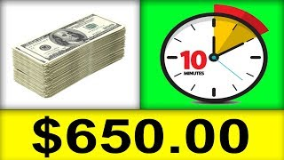 EARN $650 in 10 MINS Worth Of Work! (MAKE MONEY ONLINE)