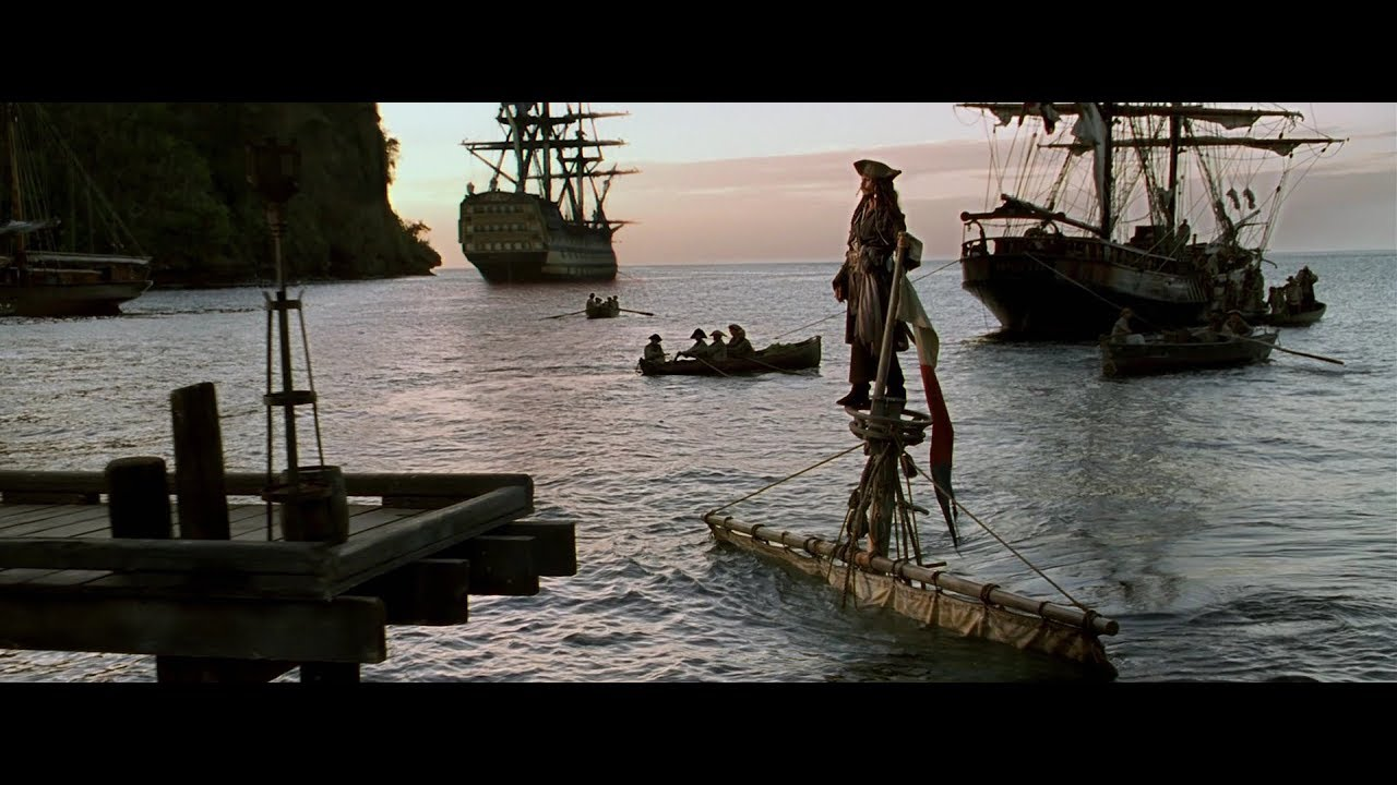 Download Jack's entry scene from all Pirates of the Caribbean movies (1-4) || 4K video