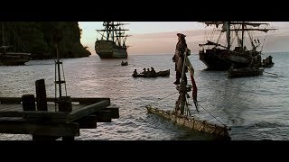 Jack's entry scene from all Pirates of the Caribbean movies (1-4)    4K video