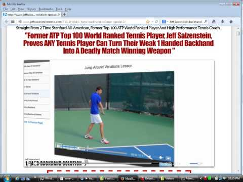 Jeff Salzenstein Top Tennis Pro: 1 Hand Backhand Solution,5 deadly mistakes, 5 critical elements