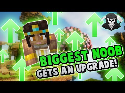 THE BIGGEST NOOB GETS AN UPGRADE?! ( Hypixel Skywars )