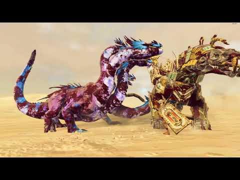 Khemrian Warsphinx VS War Hydra - Tomb Kings - Total War: Warhammer 2