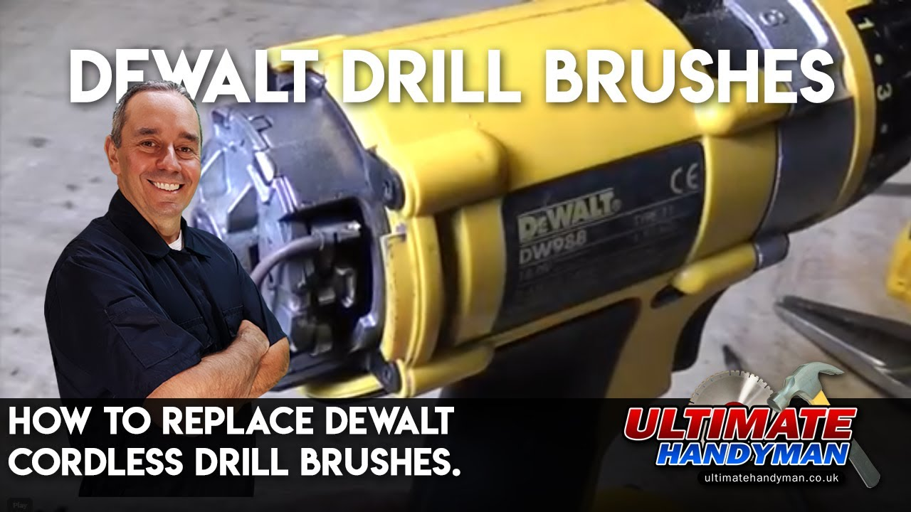 How To Replace Dewalt Cordless Drill Brushes Youtube