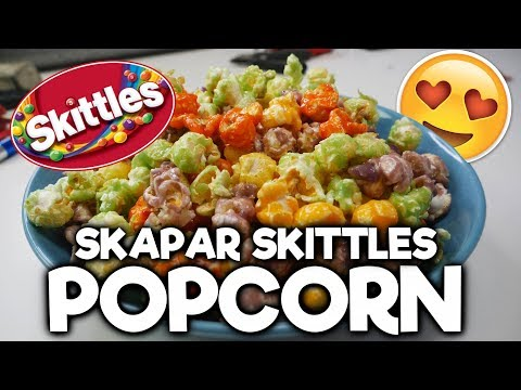 Skapar Egna Skittles Popcorn - Världens Godaste Popcorn?