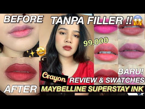 review-&-swatches-maybelline-superstay-ink-crayon-baru-+-tips-full-lips-(bahasa)