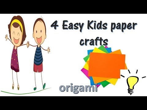 Easy kids paper crafts   paper craft for kids   origami  diy paper crafts   kids school projects
