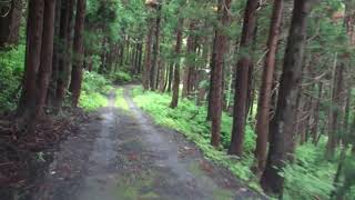 分断区間が在る山形県道54号(大江町・西川町)険道の見本のような道