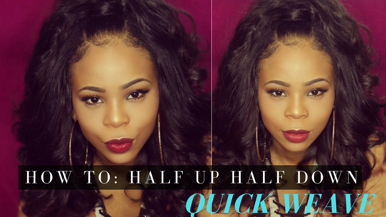 HOW TO: Half up Half Down Ponytail Quick Weave | Simone Sharice - YouTube