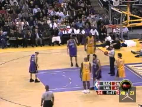 Mike Bibby Highlights vs. Los Angeles Lakers 2004 - 31 points - Clutch 3 pointers