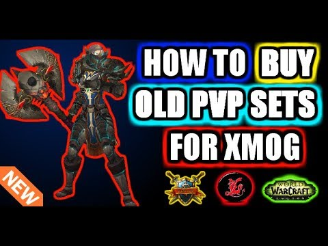 How To Buy Old Pvp Sets In WoW! Legion 7.2.5 :)