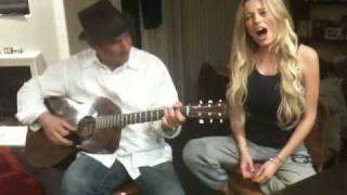Caroline Vreeland - God Bless America w/ Daniel.MOV