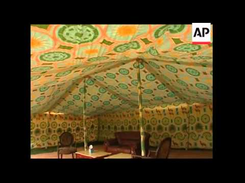 Libyan officials pitch tent in grounds of Trump property