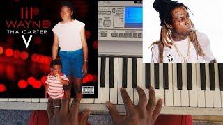 LIL WAYNE - CANT BE BROKEN (CARTER V) PIANO TUTORIAL