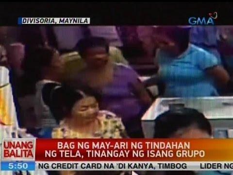 UB: Bag ng may-ari ng tindahan ng tela, tinangay ng isang grupo