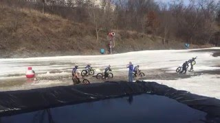 Downhill Fat Bike Race Carnage
