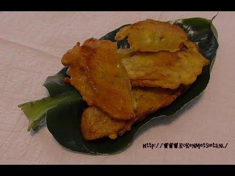 Gebakken bananen in kikkererwtenmeel (snack)