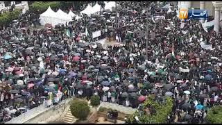 بالفيديو... ملايين تحت الأمطار الغزيرة في الجزائر للجمعة الخامسة ضد بوتفليقة