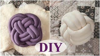 KNOT PILLOW diy. Detailed master class. 2 ways to tie the knot pillows.
