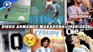 La presse mondiale rend un vibrant hommage au Dieu du foot, Diego Armando Maradona | Revue de presse
