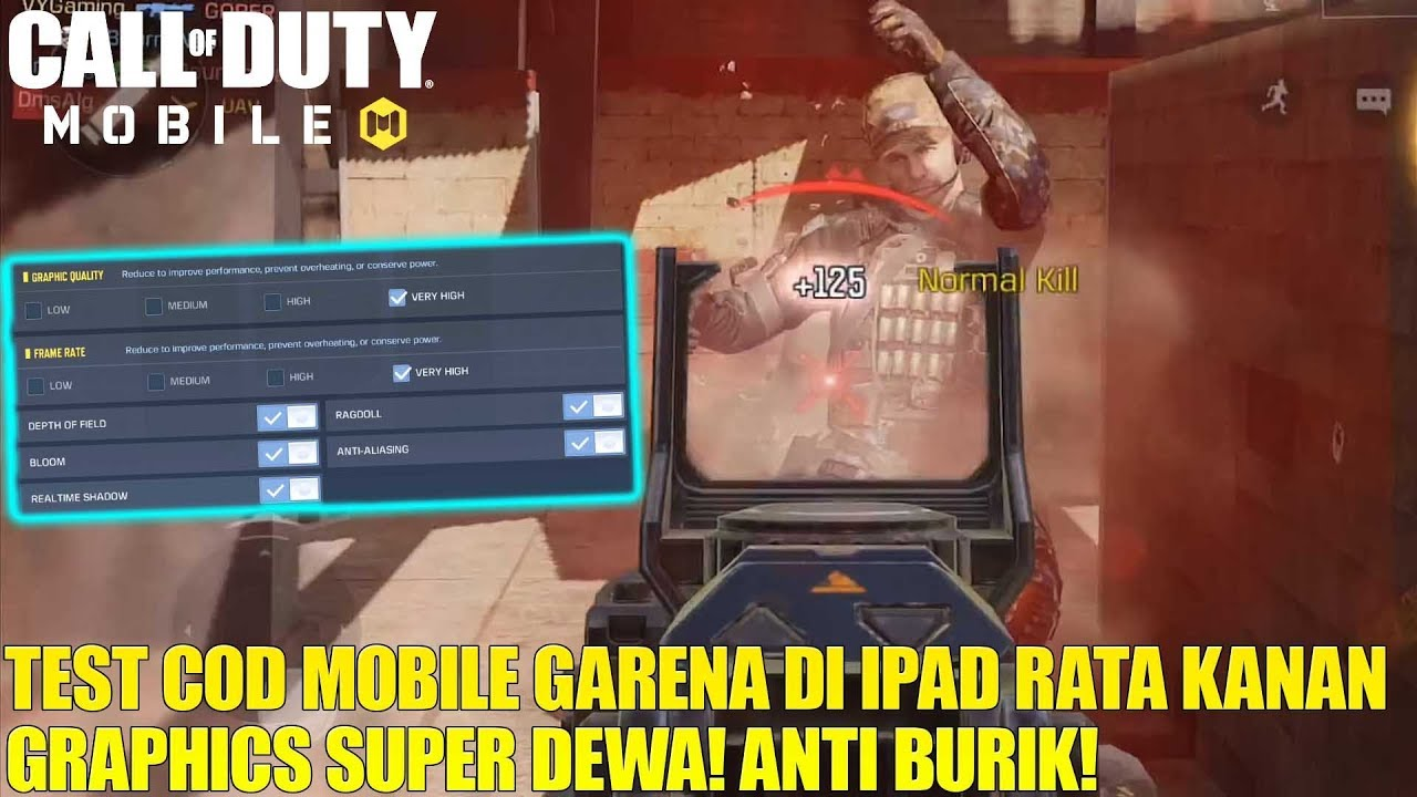 Nyoba Call Of Duty Mobile Garena Di Ipad Dengan Settingan High Graphics Nya Keren Parah Coi