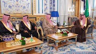 الملك وولي العهد يستقبلان عائلة اللواء الراحل عبد العزيز الفغم