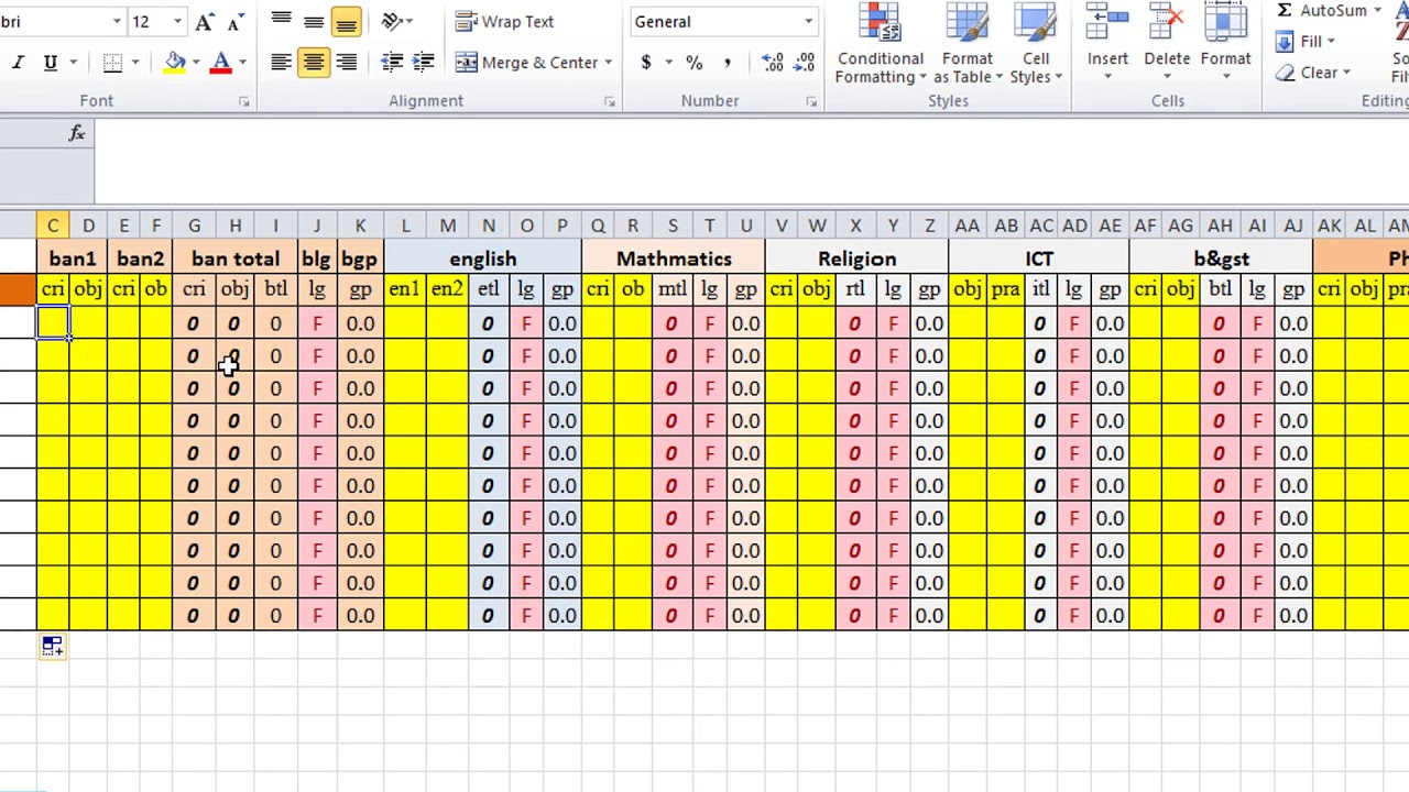 Make Result with progress report In Excel and word (part-1 ...