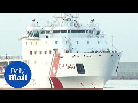 Italian ship arrives in Spain carrying 630 migrants from Africa - Daily Mail