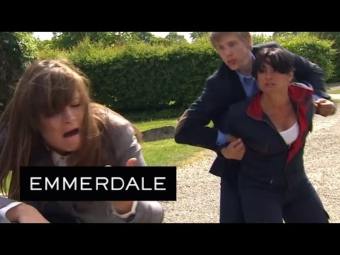 Emmerdale  Moira Punches Chrissie For Kissing Cain