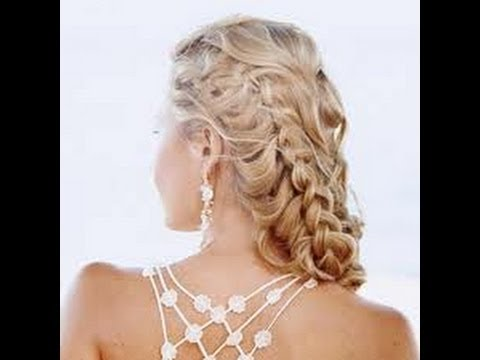 prom hair french braid