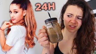 JE MANGE COMME ARIANA GRANDE PENDANT 24H ! Video