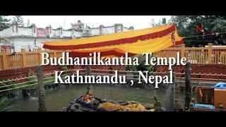 Unique Budhanilkantha Temple, Kathmandu Nepal).