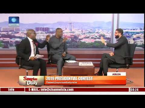 Buhari And Atiku Spokepersons Fought On Channel Tv During an Interview(Video)
