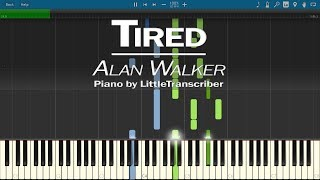 Alan Walker ft. Gavin James - Tired (Piano Cover) by LittleTranscriber