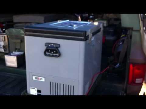 Portable refrigerator Set-up