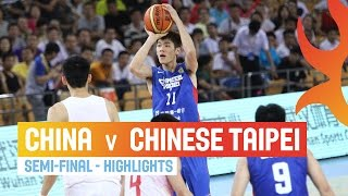 China v Chinese Taipei - Highlights Semi-Final - 2014 FIBA Asia Cup
