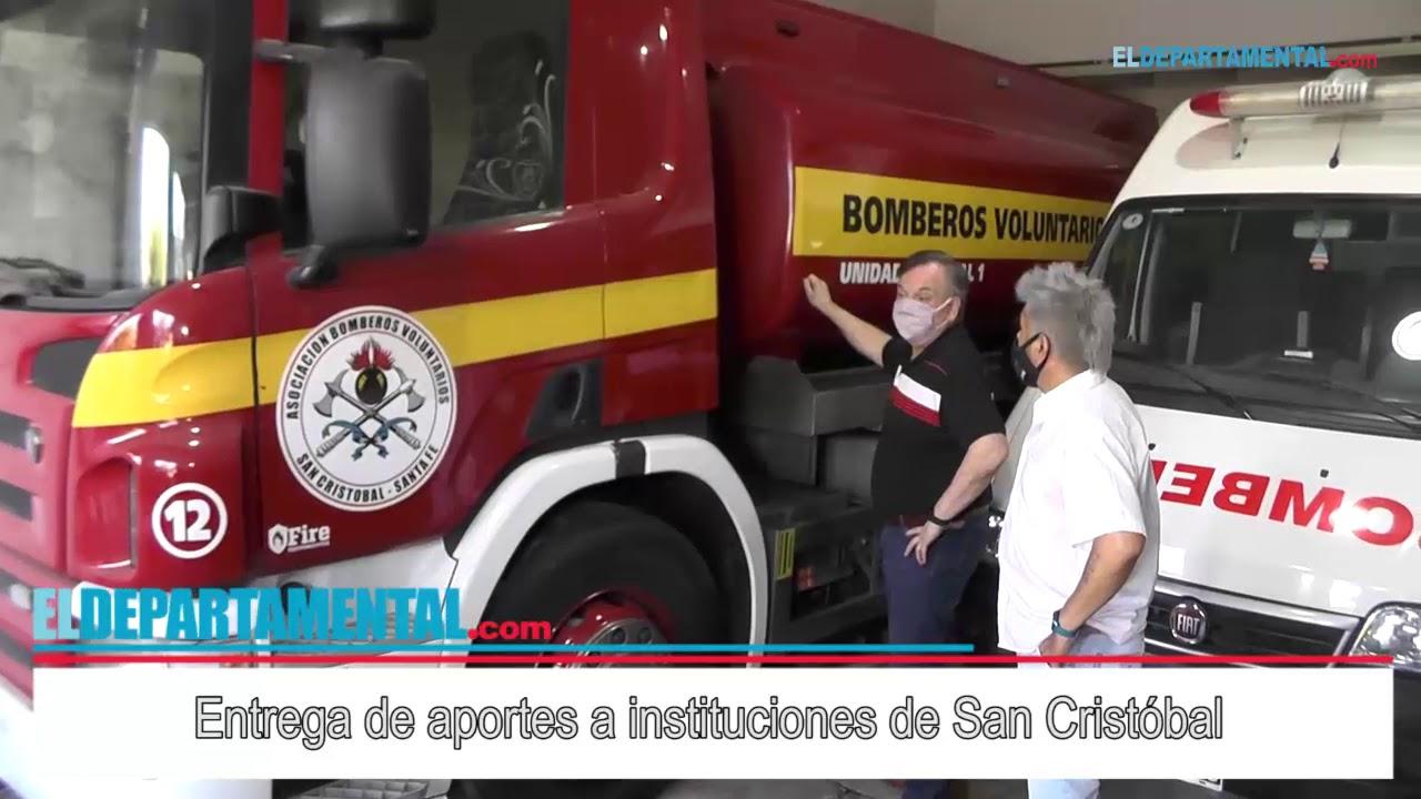 Entrega de aportes a instituciones de San Cristóbal