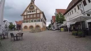 STREET VIEW: Factory outlet city in Metzingen in GERMANY