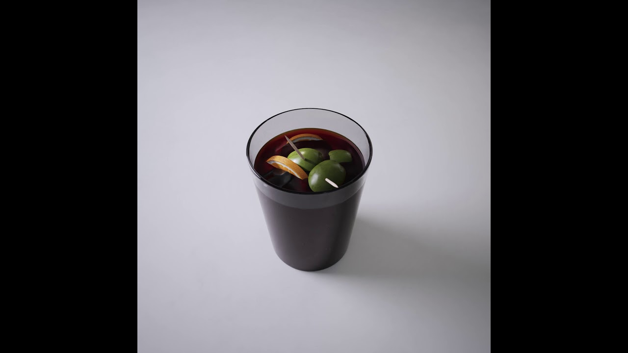 Vermouth - 3D glass and liquid