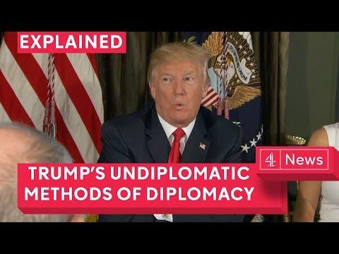 What is Trump's method of diplomacy?