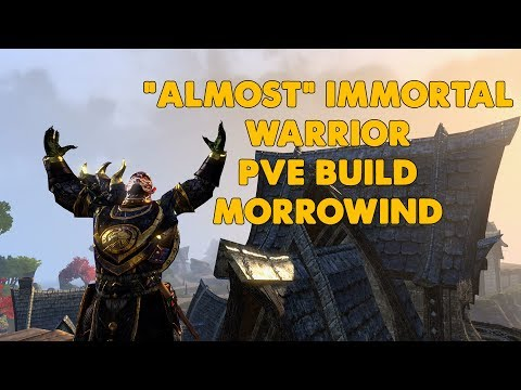 "ESO - ""Almost"" Immortal Warrior PVE tank build - (Morrowind Update)"