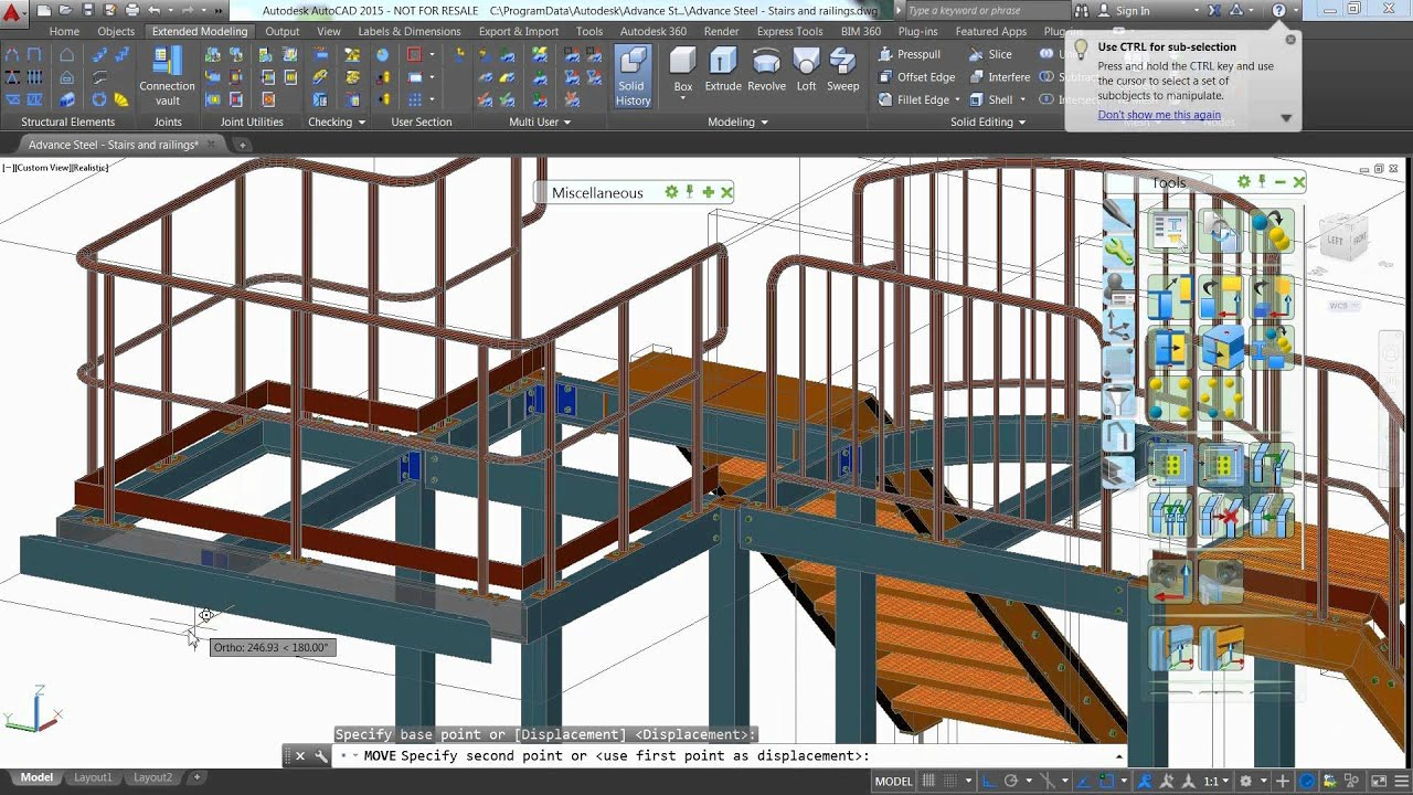 Stairs And Railings With Autodesk Advance Steel Youtube