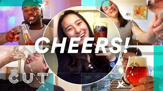People in 40 Different Countries Show Us How to Cheers  | Cut