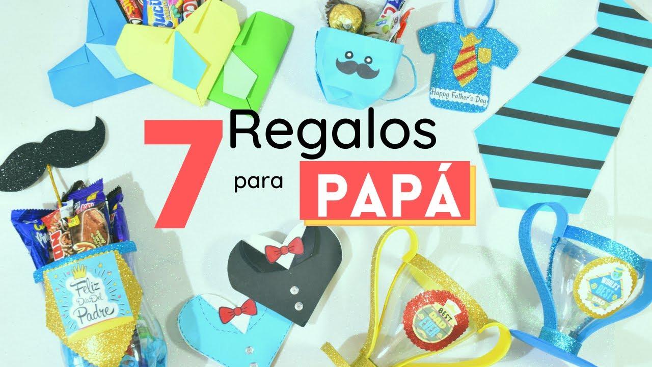 7 REGALOS FÁCILES Y ORIGINALES para PAPÁ/ Manualidades para Papá/ Father's day gifts-El Mundo de MyG