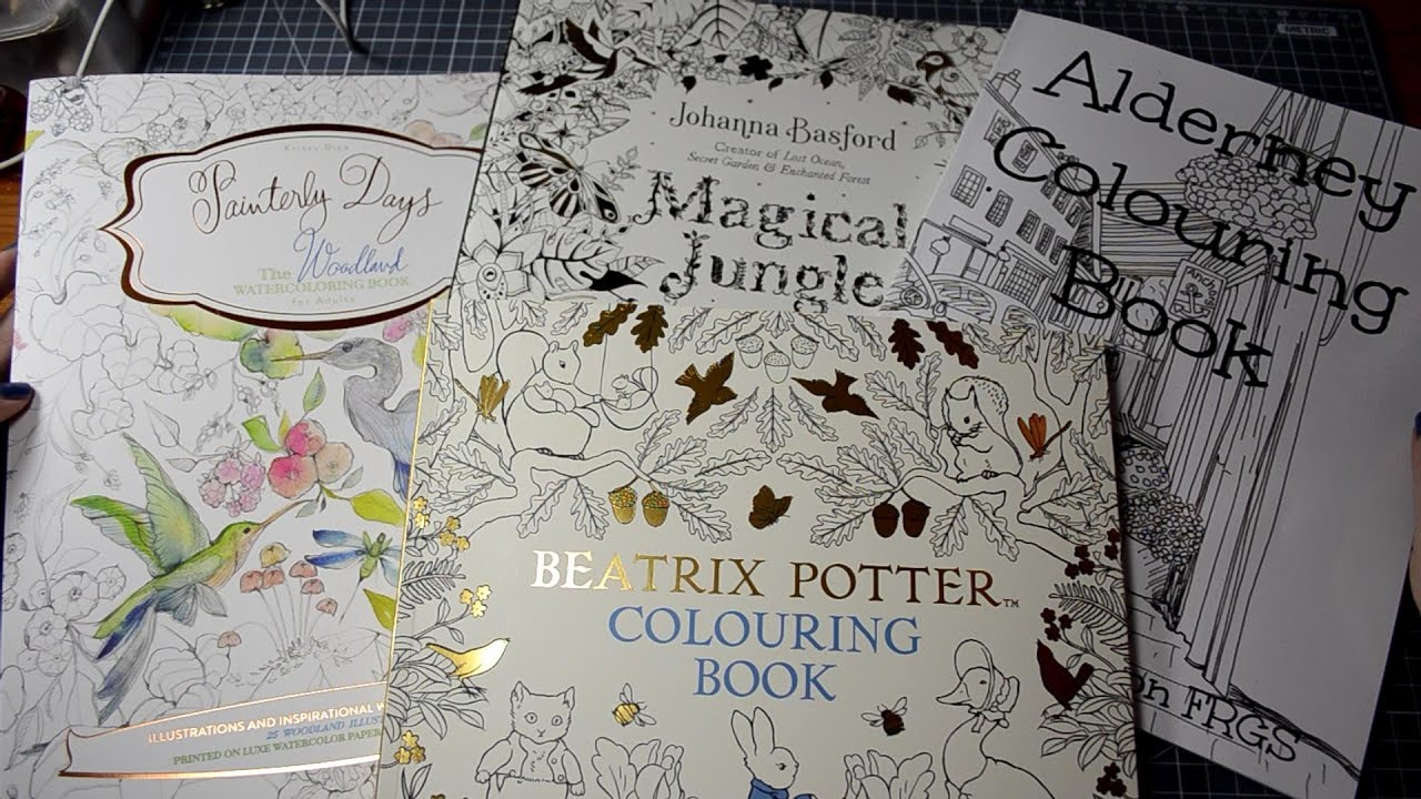 new coloring books magical jungle flip through review painterly days beatrix potter unboxing