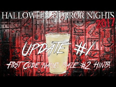 halloween horror nights 2017 update 1 first code name maze 2 hints