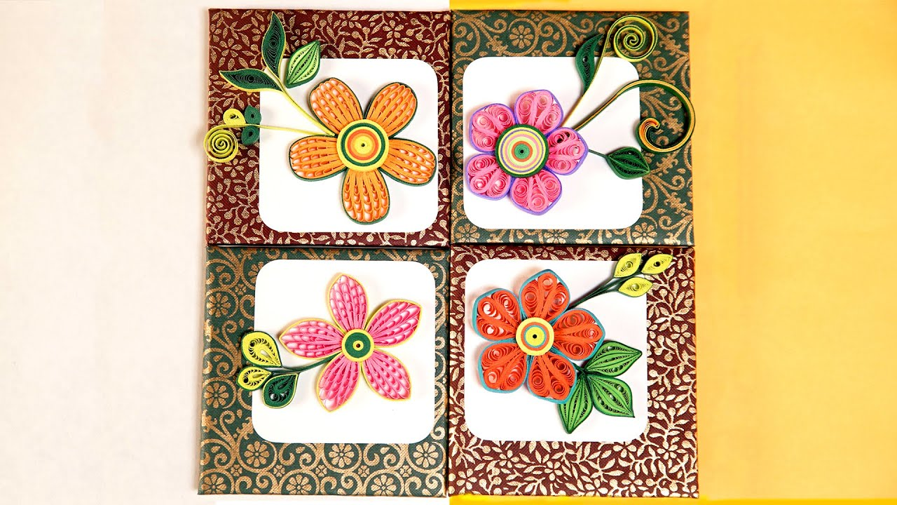 Wall Photo Frames wall frames flowers diy | paper quilling designs | diy room decor